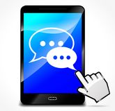 Speech on mobile phone screen Stock Photography