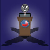 A speech on the podium unknown personality of President Stock Photography