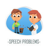 Speech problems medical concept. Vector illustration. Royalty Free Stock Photography