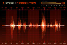 Speech Recognition. Red version of the Speech Recognition image Royalty Free Stock Photography