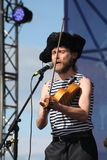 Speech by the russian folk orchestra of the ensemble   otava yo . Stock Photos