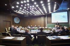 Speech of Shamil Suleymanov Stock Image