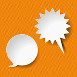 Speech And Shout Bubbles Orange Stripes Royalty Free Stock Photography