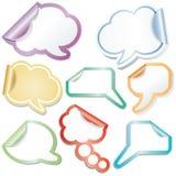Speech sticky clouds stock illustration