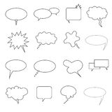 Speech, talk and thought bubbles Royalty Free Stock Photos