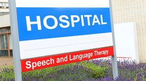 Speech therapy. Speech and language therapy department at the hospital Stock Photos