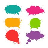 Speech thought bubble set, flat design  Stock Images