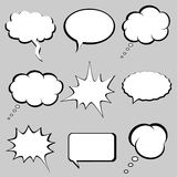 Speech and thought bubbles. Balloons royalty free illustration