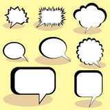 Speech And Thought Bubbles. Stock Photo