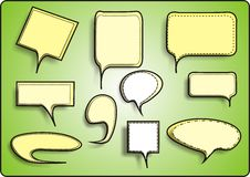Speech And Thought Bubbles. Vector illustration Royalty Free Stock Photos