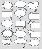 Speech and thought bubbles Royalty Free Stock Images