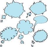 Speech And Thought Bubbles. Speech And Thought Bubbles on white background stock illustration