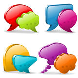 Speech and Thought Bubbles Royalty Free Stock Image