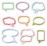 Speech & Thought Bubbles. Blank speech and thought bubbles in various shapes and sizes Stock Images