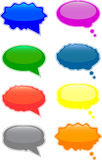 Speech and thought bubbles. Glossy speech and thought bubbles vector illustration