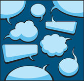 Speech And Thought Bubbles. (vector or XXL jpeg image royalty free illustration