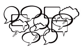 Speech And Thought Bubbles design. Background Royalty Free Stock Photo
