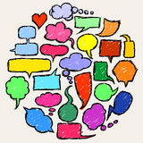 Speech And Thought Bubbles. Hand Drawn Speech And Thought Bubbles illustration sketch royalty free illustration