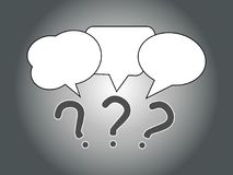 Speech and Thought Bubbles icon, social media concept royalty free illustration