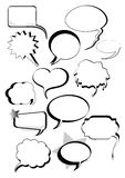 Speech And Thought Bubbles Set Royalty Free Stock Photos