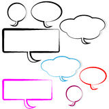 Speech and thought bubbles on white background Stock Photo