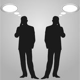 Speech thought leaders - Illustration. Speech, talk, - think! - Illustration .  illustration Royalty Free Stock Images