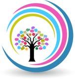 Speech tree logo Royalty Free Stock Photography