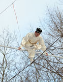 Speech by Uzbek tightrope walkers. Stock Photography