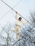 Speech by Uzbek tightrope walkers. Stock Photo