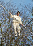 Speech by Uzbek tightrope walkers. Stock Image