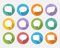 Speech vector bubbles with long shadow Stock Photography