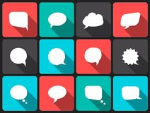 Speech vector  bubbles with long shadow Stock Photo