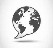 Speech world logo Stock Photo