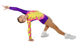 Speech by the young athlete aerobics Stock Photos