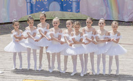 Speech the young ballerinas School-Studio Alla Dukhova Royalty Free Stock Image