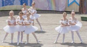 Speech the young ballerinas School-Studio Alla Dukhova Stock Image