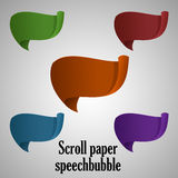 speechbubble scrollpaper Royaltyfri Fotografi