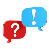 Speech Bubbles Question Answer Stock Images
