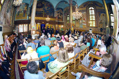 Speeches at the Festival of Orthodox Music in Pomorie, Bulgaria Royalty Free Stock Image