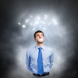 Speechless businessman Stock Photography