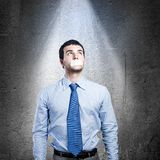 Speechless businessman Royalty Free Stock Photos