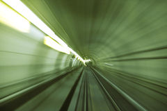 Speed. Metro tunnel blurry abstract shoot of speed Royalty Free Stock Photography