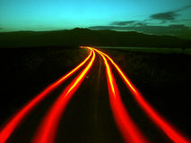 Speed. Running light at twilight zone Royalty Free Stock Image