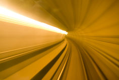 Speed. Metro tunnel shoot of speed Royalty Free Stock Image