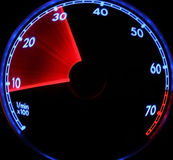 Speed. RPM black,red and blue car instrument Stock Photos