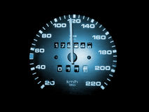 Speed. Ometer shot in an european car Stock Images
