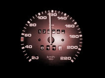 Speed. Ometer shot in an european car Stock Photo
