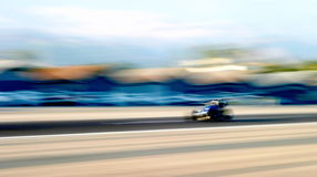 Speed. A speed car racing down the air stripe in Santa Paula Royalty Free Stock Photo