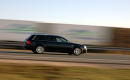 Speed. Car in motion Royalty Free Stock Photo