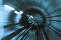 Speed. Metro tunnel blurry abstract shoot of speed Stock Photography